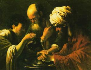 Umycie rąk przez Piłata